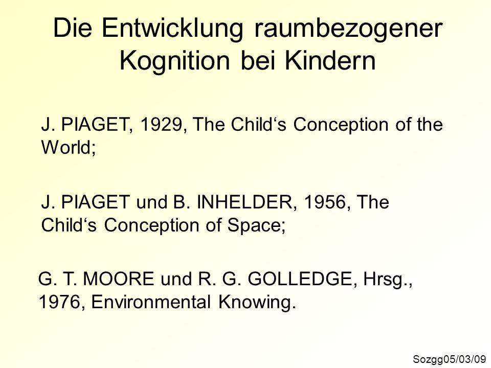 Die Entwicklung raumbezogener Kognition bei Kindern