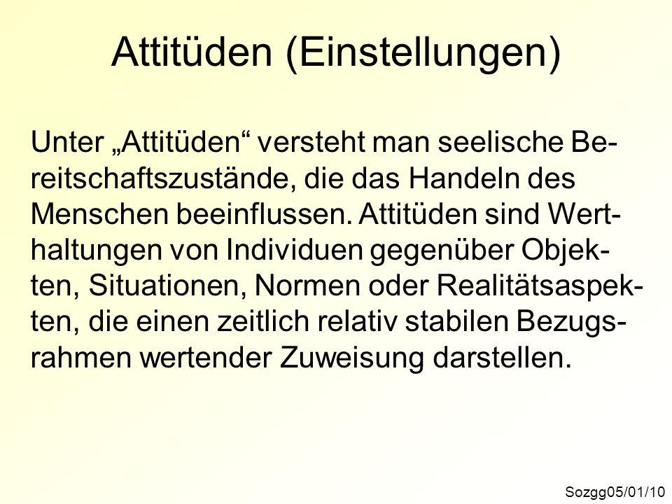 Attitüden (Einstellungen)