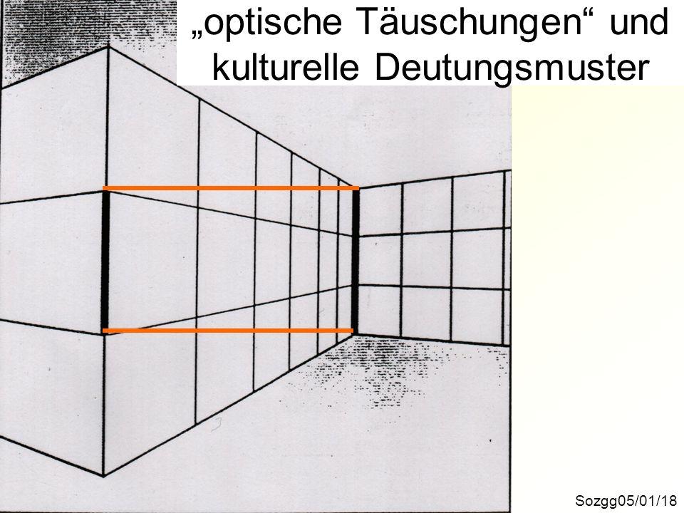 """""""optische Täuschungen und kulturelle Deutungsmuster"""