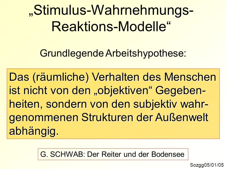 """""""Stimulus-Wahrnehmungs-Reaktions-Modelle"""
