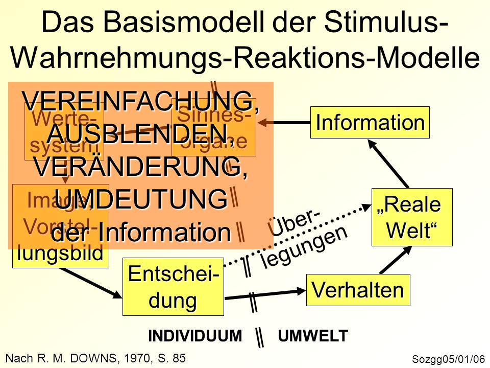 Das Basismodell der Stimulus-Wahrnehmungs-Reaktions-Modelle