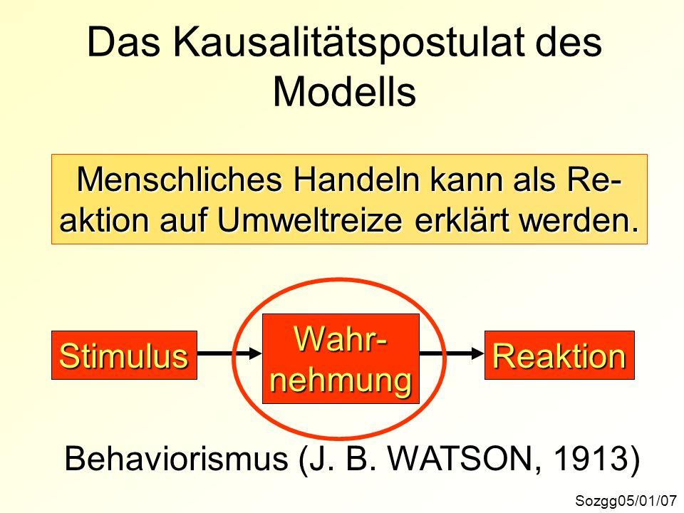 Das Kausalitätspostulat des Modells