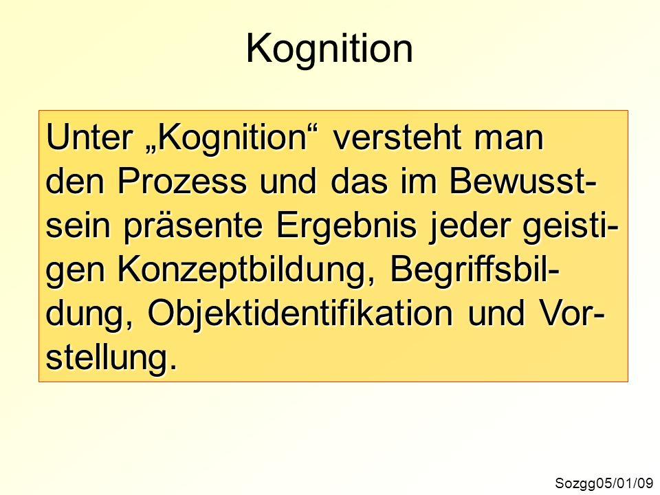 """Kognition Unter """"Kognition versteht man"""