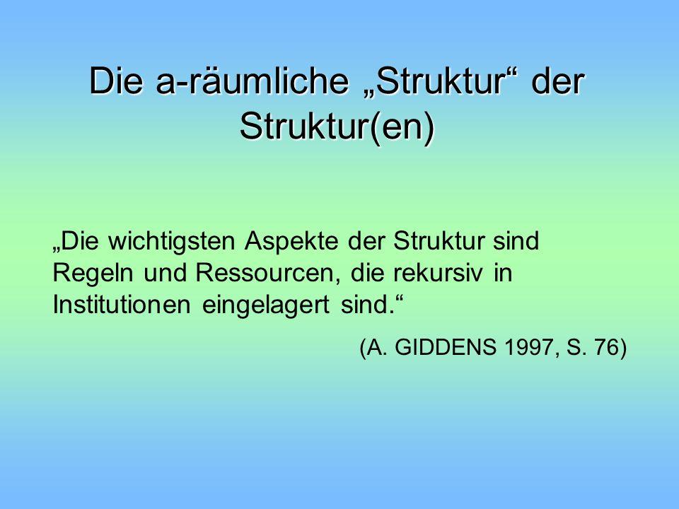 """Die a-räumliche """"Struktur der Struktur(en)"""