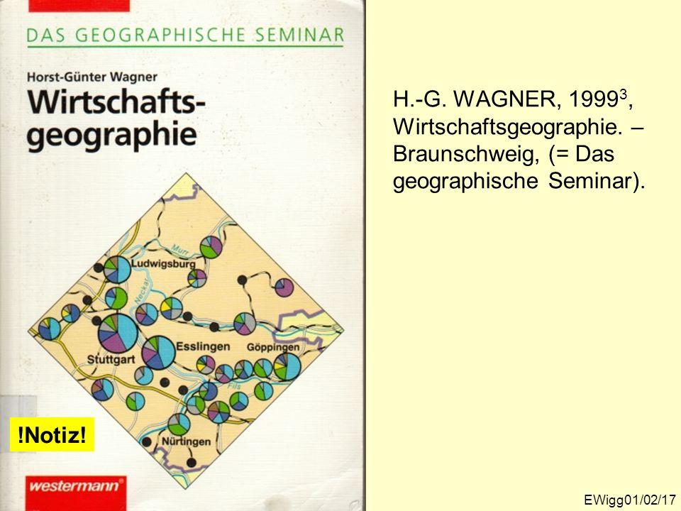 H. -G. WAGNER, 19993, Wirtschaftsgeographie