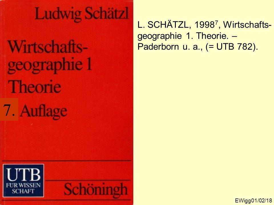 L. SCHÄTZL, 19987, Wirtschafts-geographie 1. Theorie. – Paderborn u. a