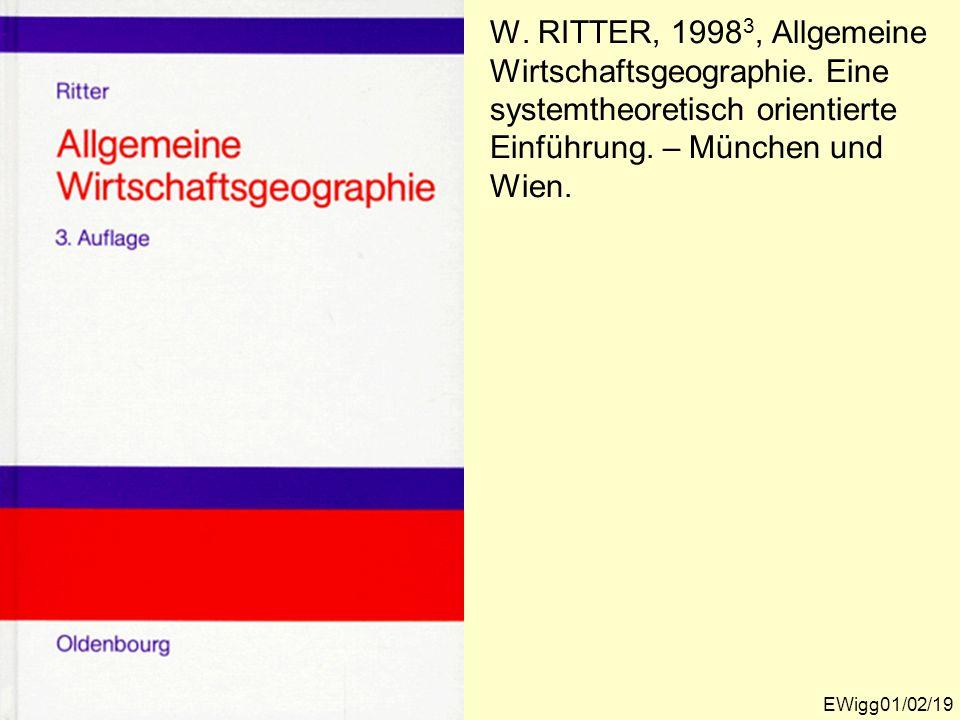 W. RITTER, 19983, Allgemeine Wirtschaftsgeographie