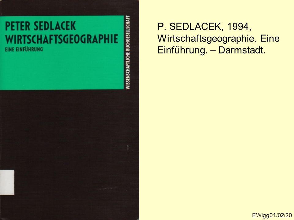 P. SEDLACEK, 1994, Wirtschaftsgeographie. Eine Einführung. – Darmstadt.