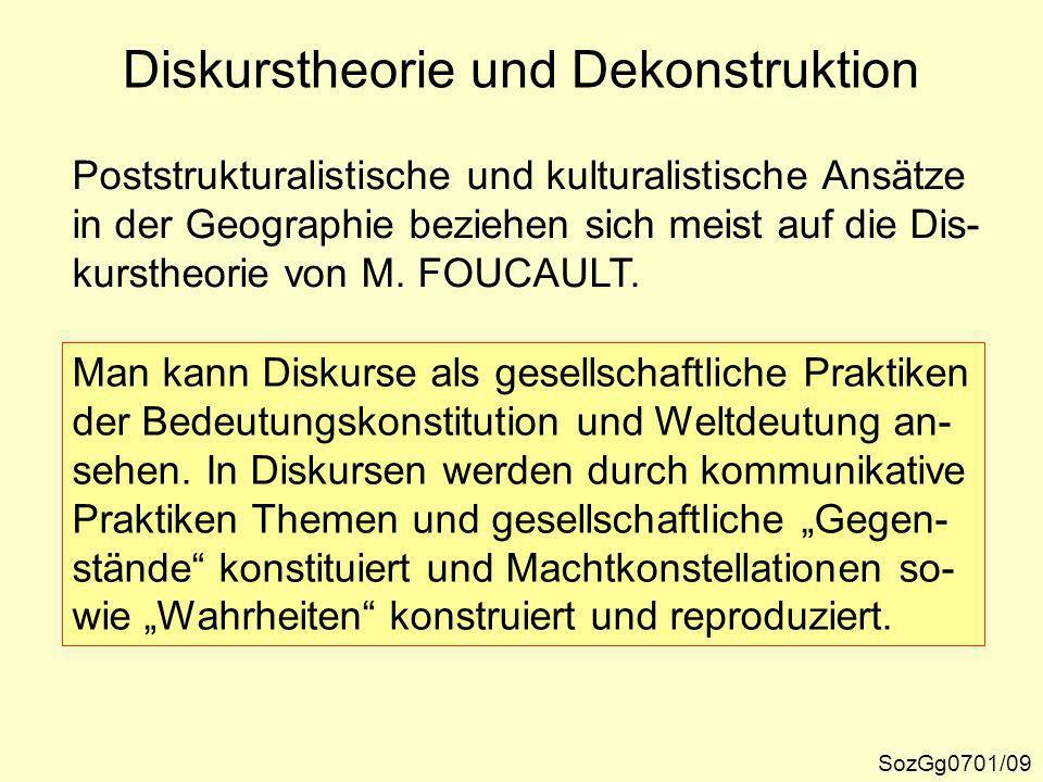 Diskurstheorie und Dekonstruktion