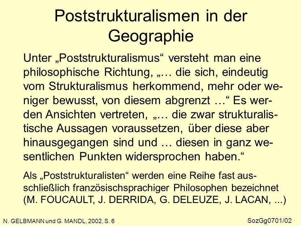 Poststrukturalismen in der Geographie