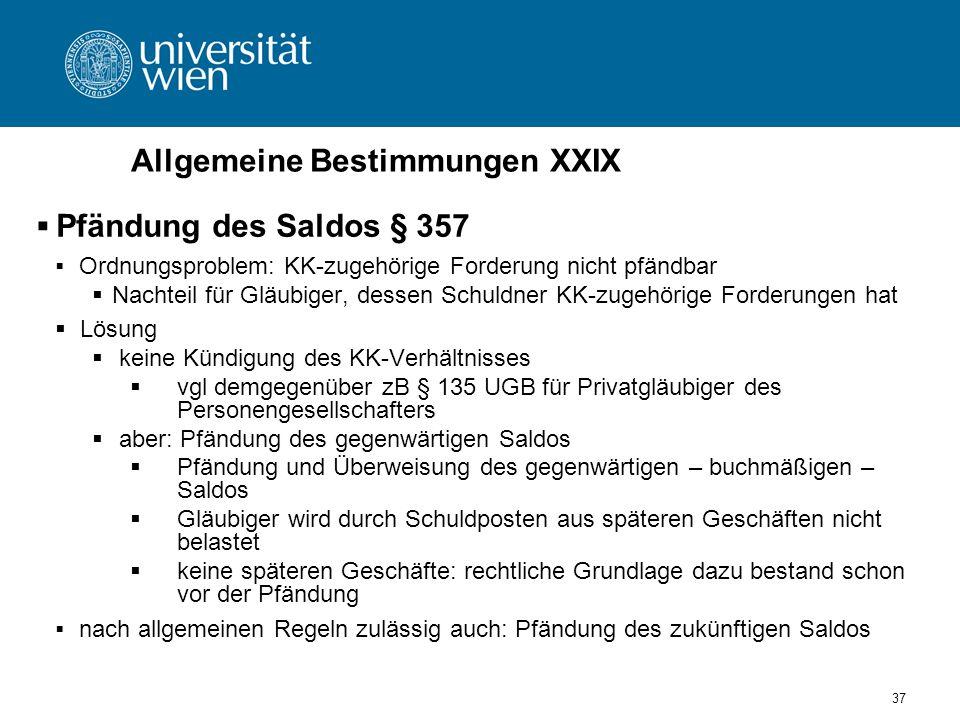 Allgemeine Bestimmungen XXIX