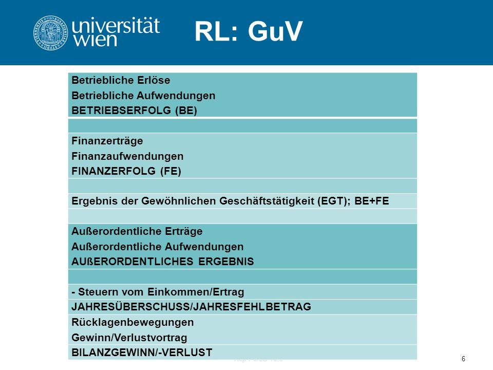 RL: GuV Betriebliche Erlöse Betriebliche Aufwendungen