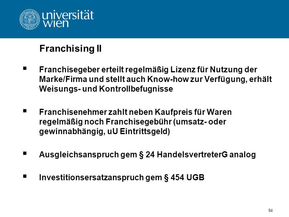 Franchising II