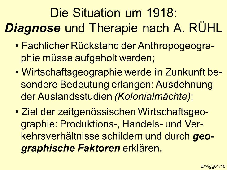 Die Situation um 1918: Diagnose und Therapie nach A. RÜHL