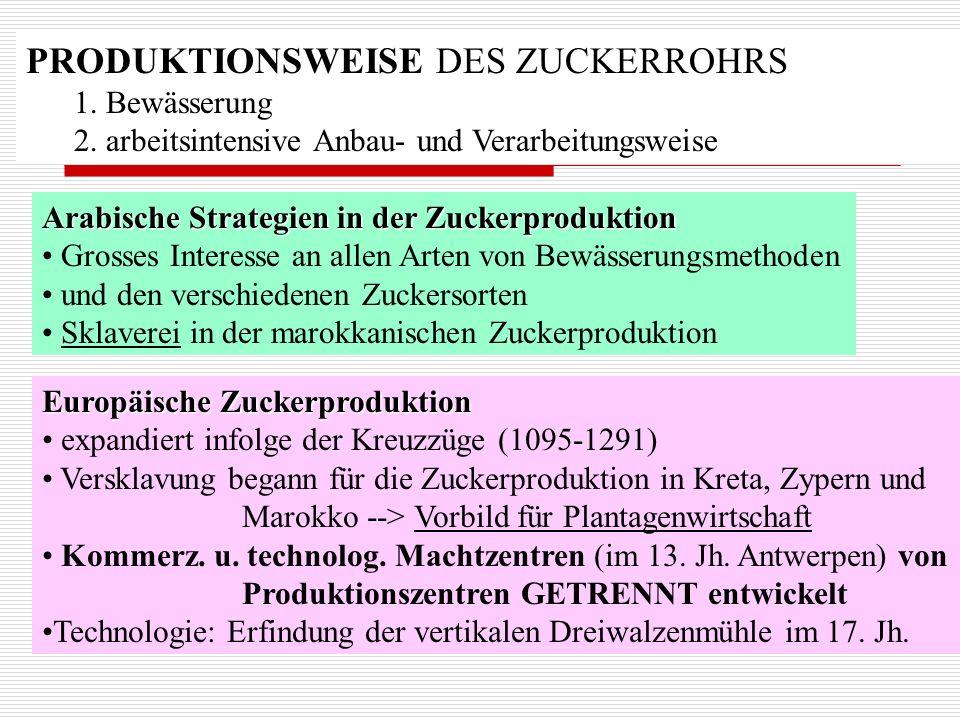 PRODUKTIONSWEISE DES ZUCKERROHRS
