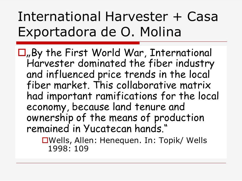 International Harvester + Casa Exportadora de O. Molina