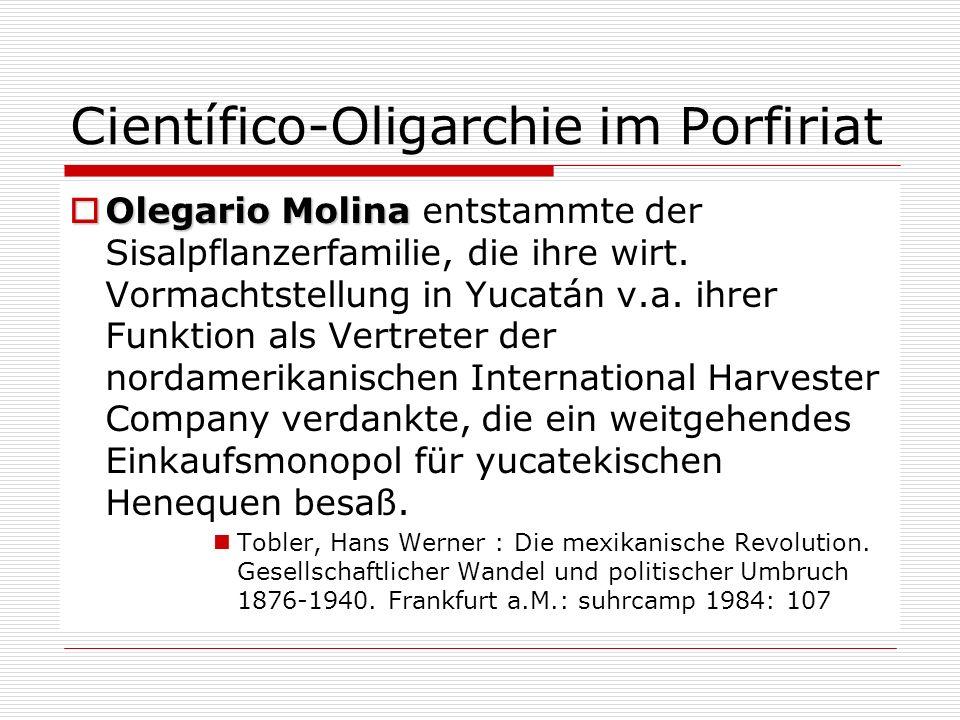 Científico-Oligarchie im Porfiriat