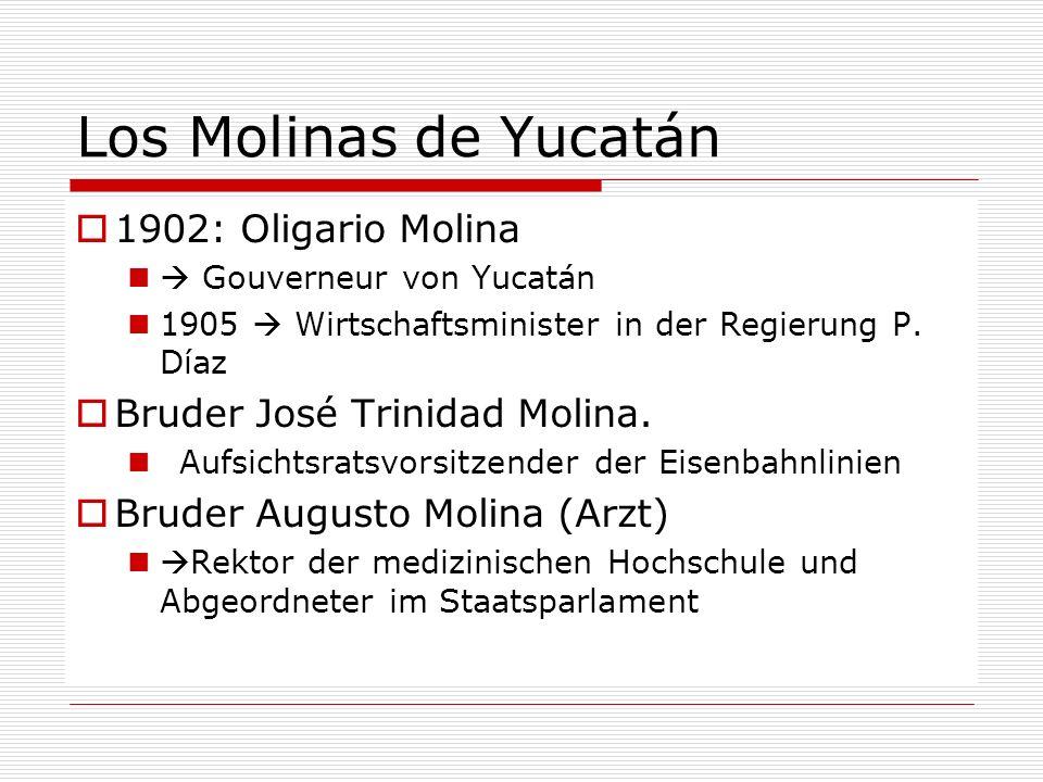 Los Molinas de Yucatán 1902: Oligario Molina
