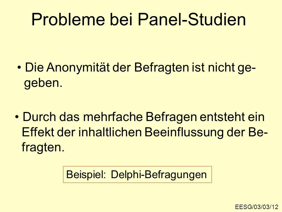 Probleme bei Panel-Studien