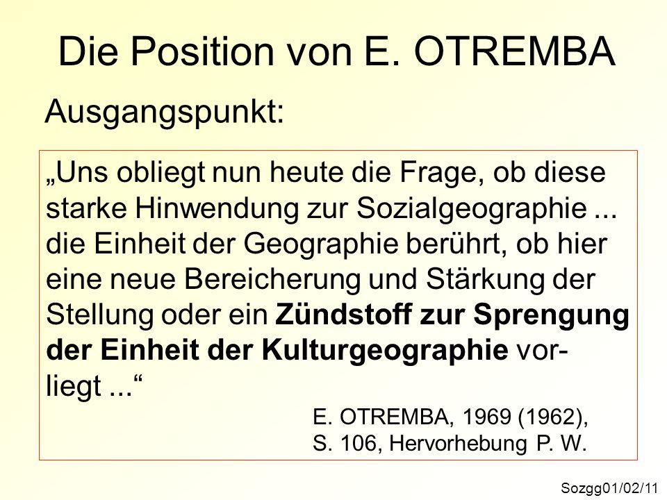 Die Position von E. OTREMBA