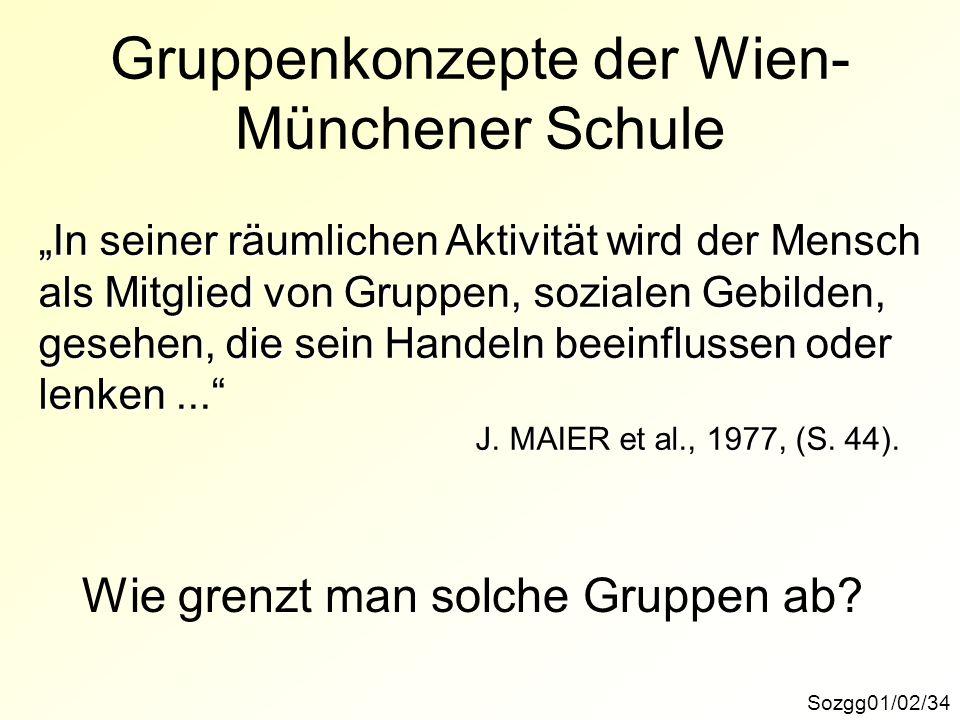 Gruppenkonzepte der Wien-Münchener Schule