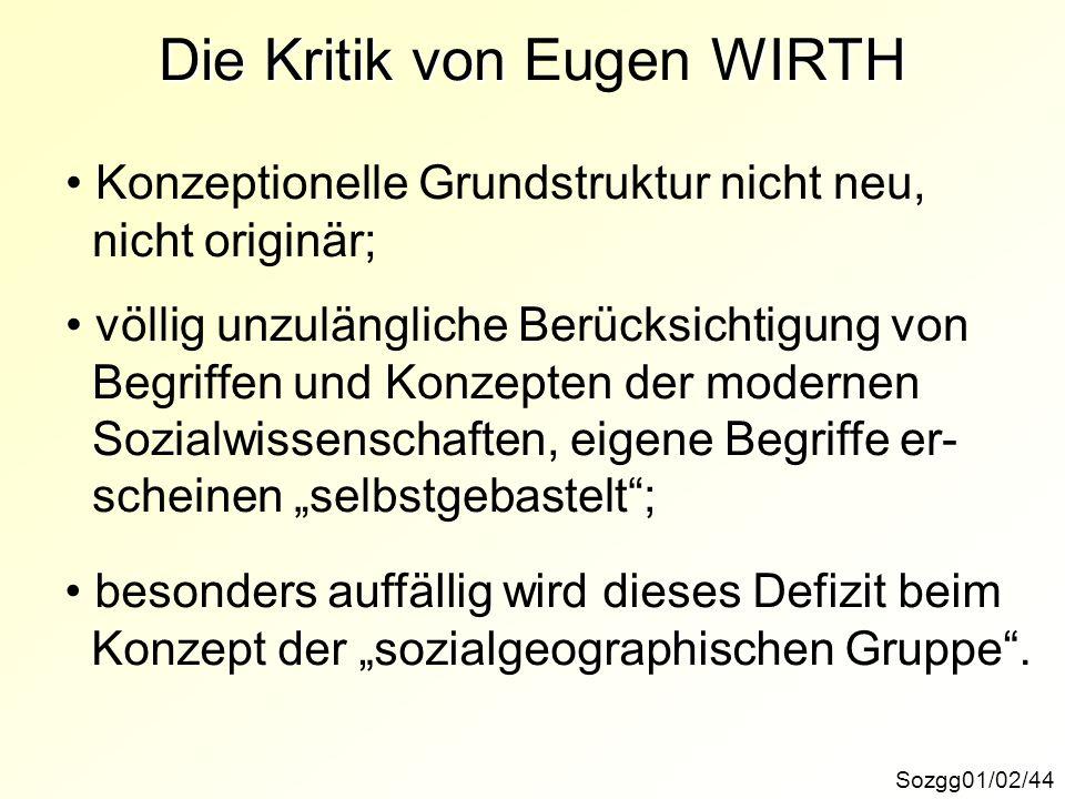 Die Kritik von Eugen WIRTH