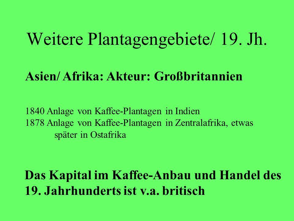 Weitere Plantagengebiete/ 19. Jh.