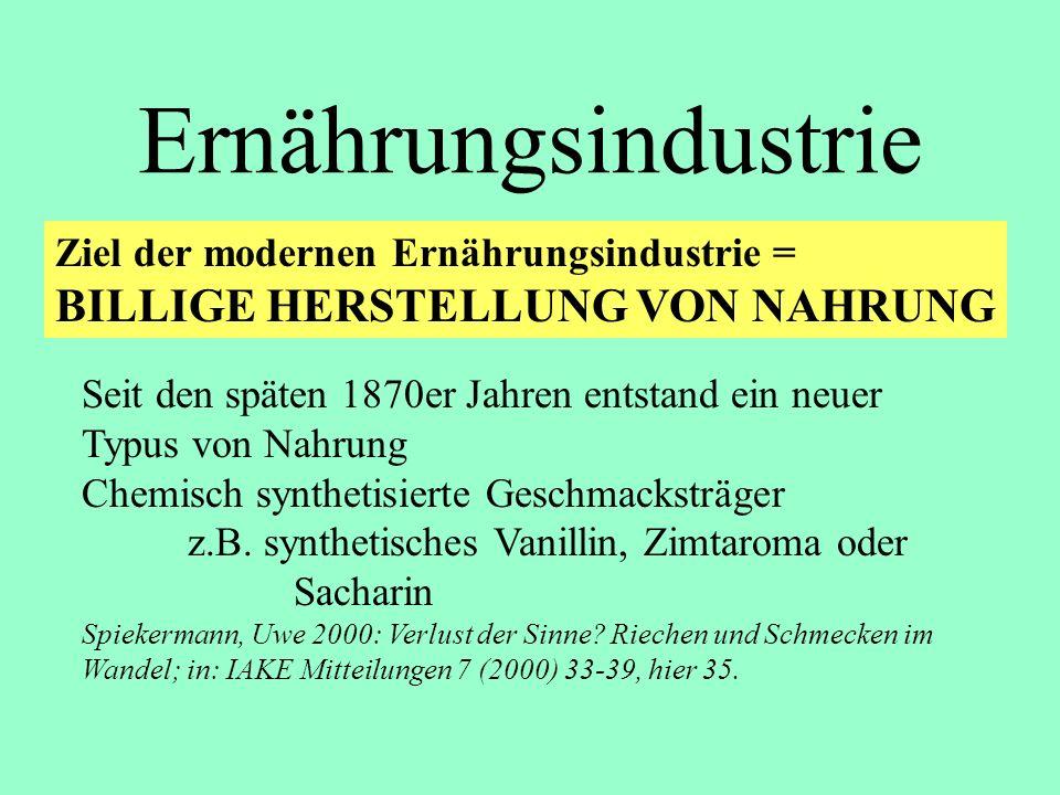 Ernährungsindustrie BILLIGE HERSTELLUNG VON NAHRUNG