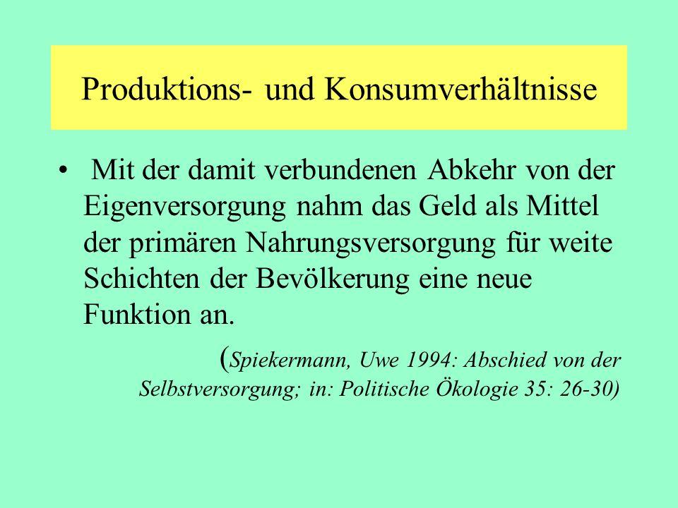 Produktions- und Konsumverhältnisse