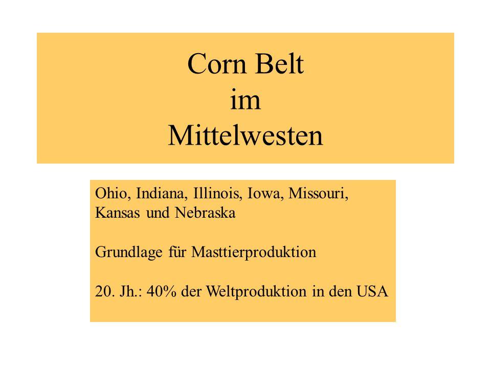 Corn Belt im Mittelwesten