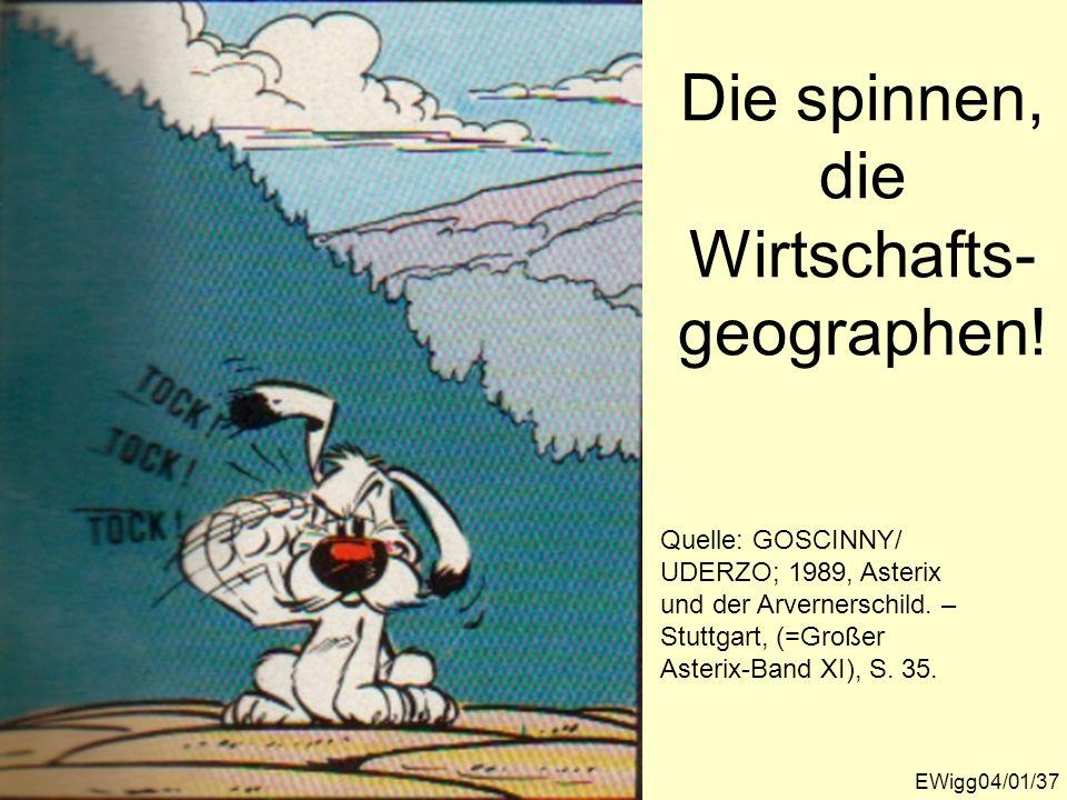 Die spinnen, die Wirtschafts-geographen!