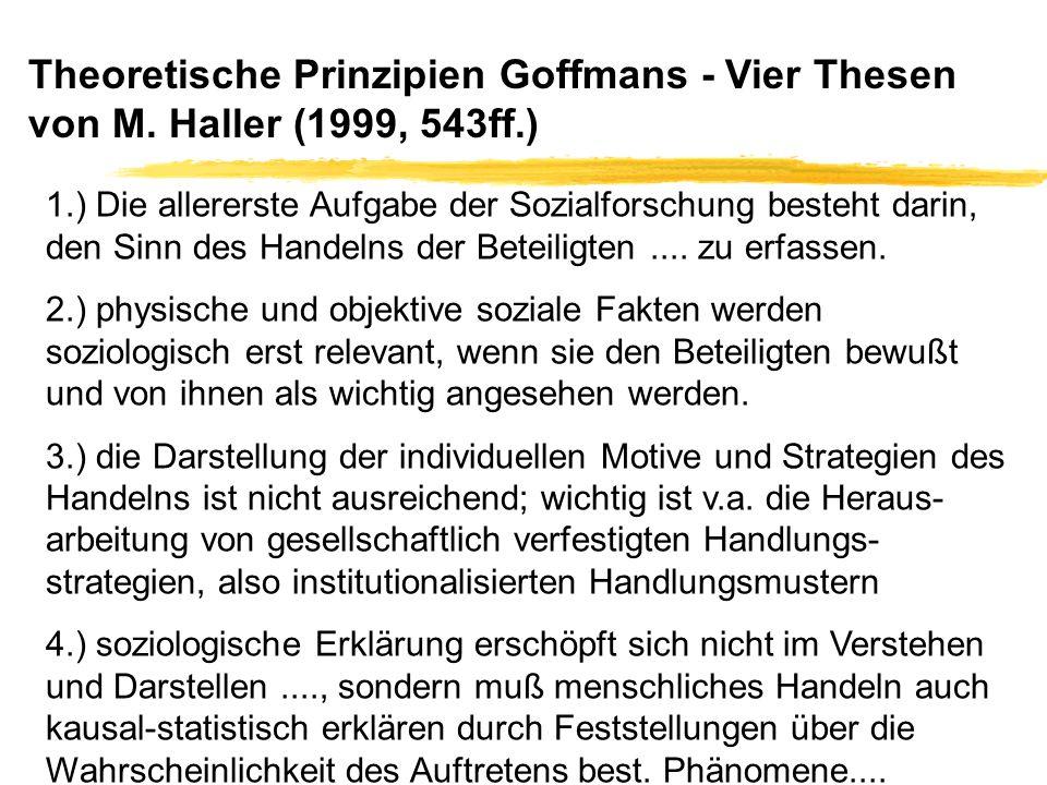 Theoretische Prinzipien Goffmans - Vier Thesen von M