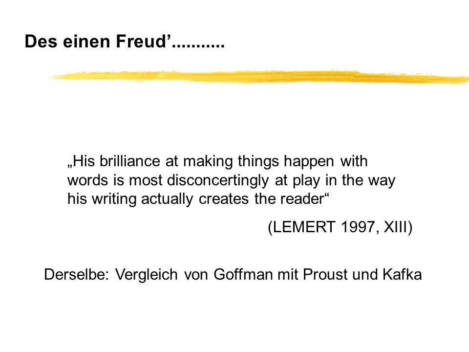 Des einen Freud'...........