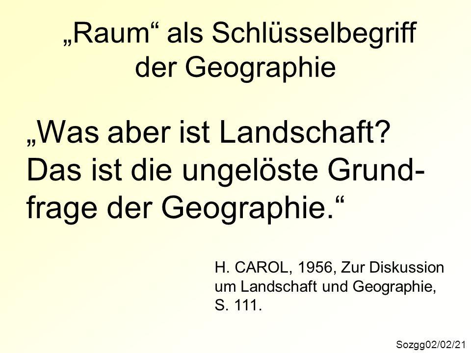 """""""Raum als Schlüsselbegriff der Geographie"""