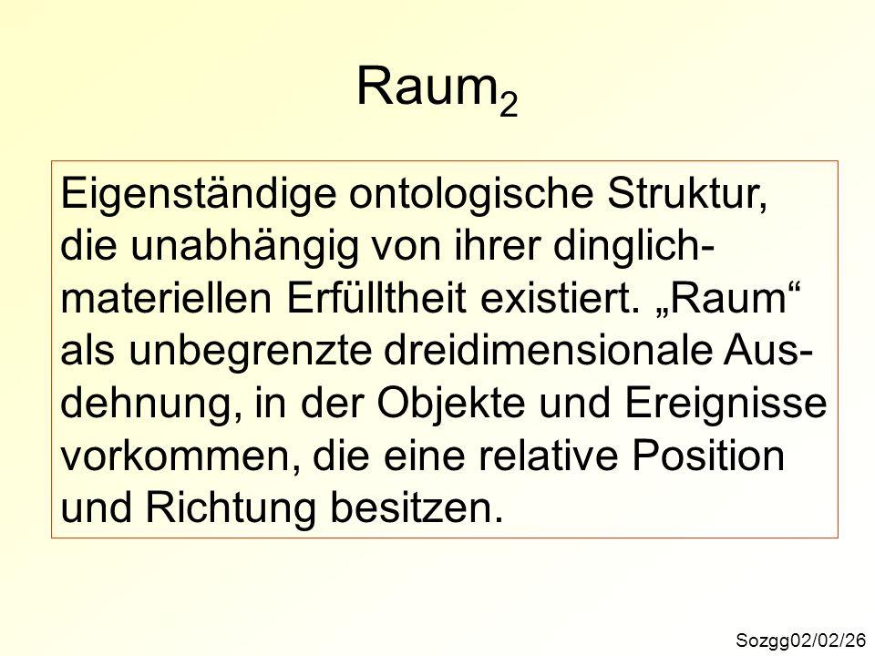 Raum2 Eigenständige ontologische Struktur,