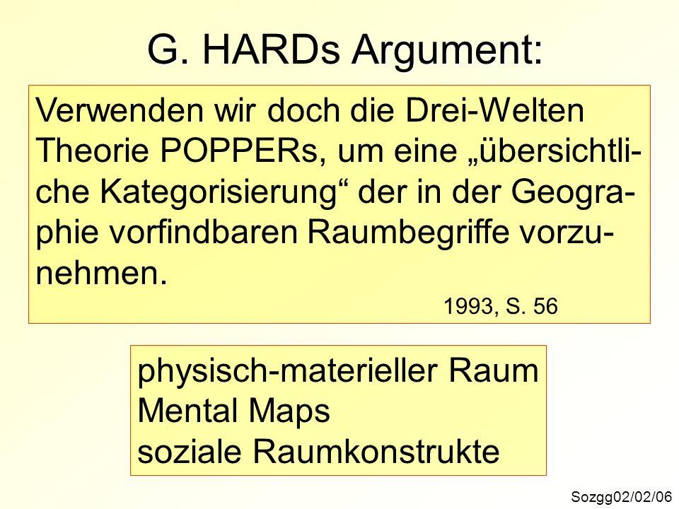 G. HARDs Argument: Verwenden wir doch die Drei-Welten