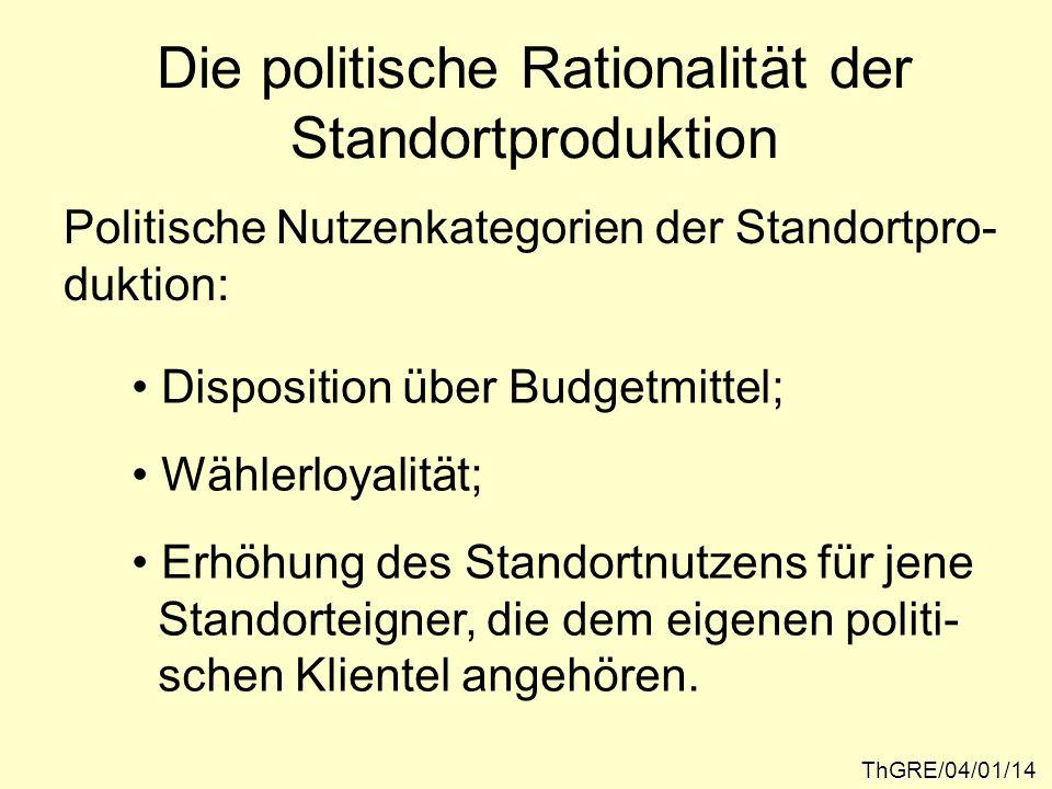 Die politische Rationalität der Standortproduktion
