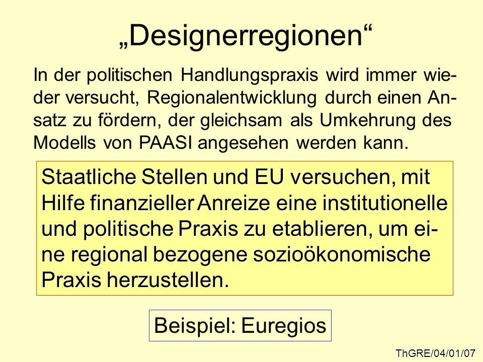 """""""Designerregionen Staatliche Stellen und EU versuchen, mit"""