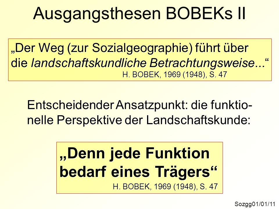 Ausgangsthesen BOBEKs II