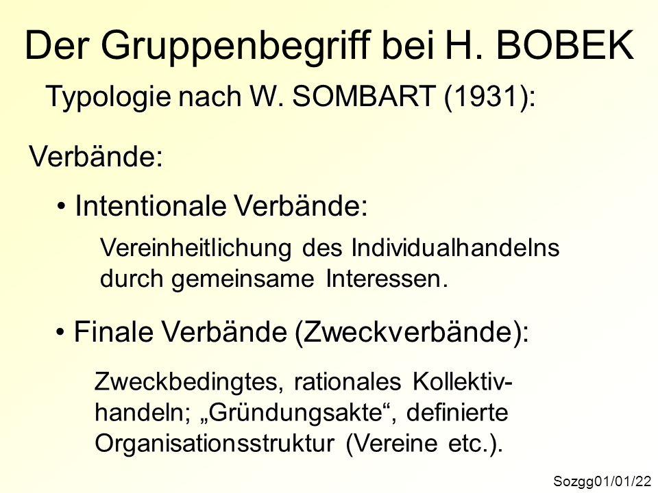Der Gruppenbegriff bei H. BOBEK
