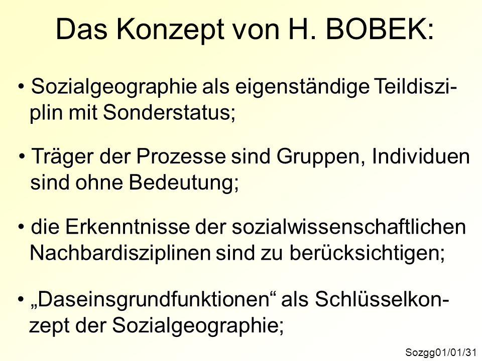 Das Konzept von H. BOBEK: