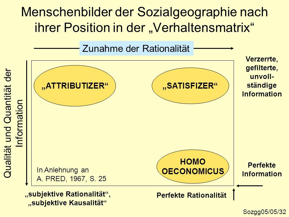 """""""subjektive Rationalität , """"subjektive Kausalität"""