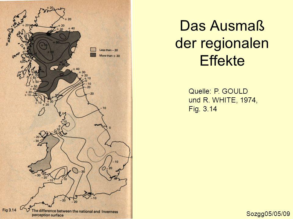 Das Ausmaß der regionalen Effekte