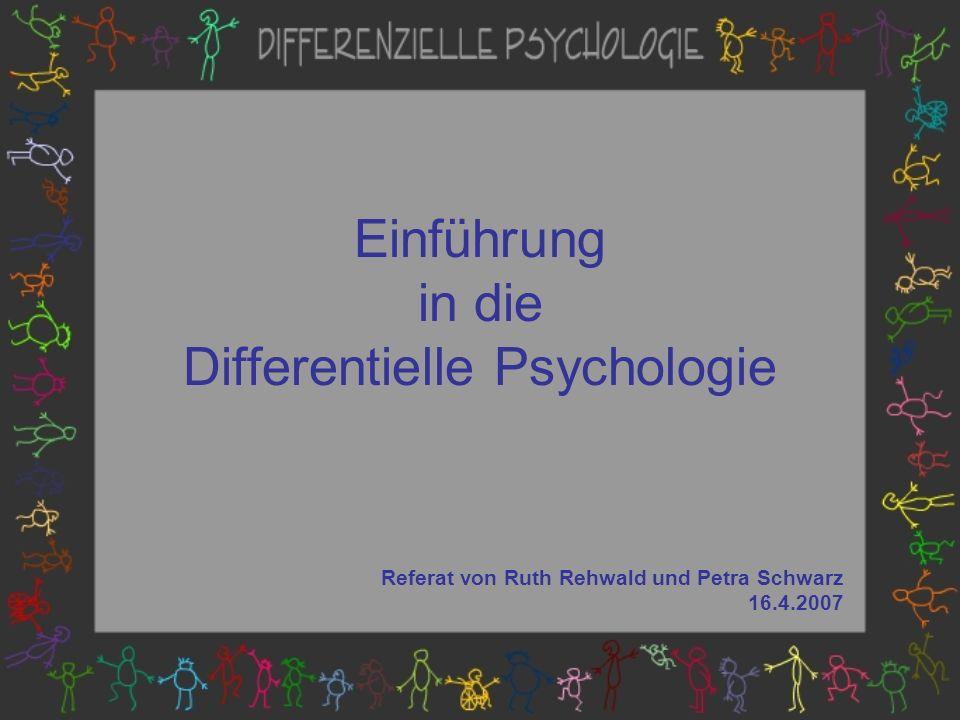 Einführung in die Differentielle Psychologie