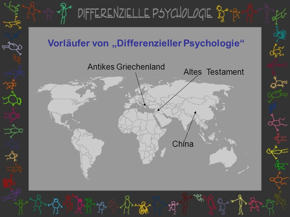 """Vorläufer von """"Differenzieller Psychologie"""