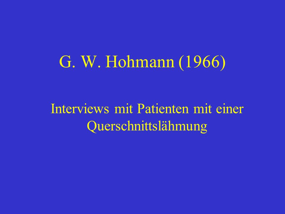 Interviews mit Patienten mit einer Querschnittslähmung