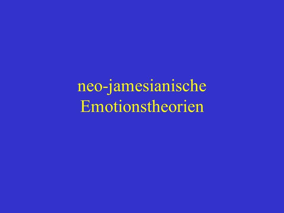 neo-jamesianische Emotionstheorien