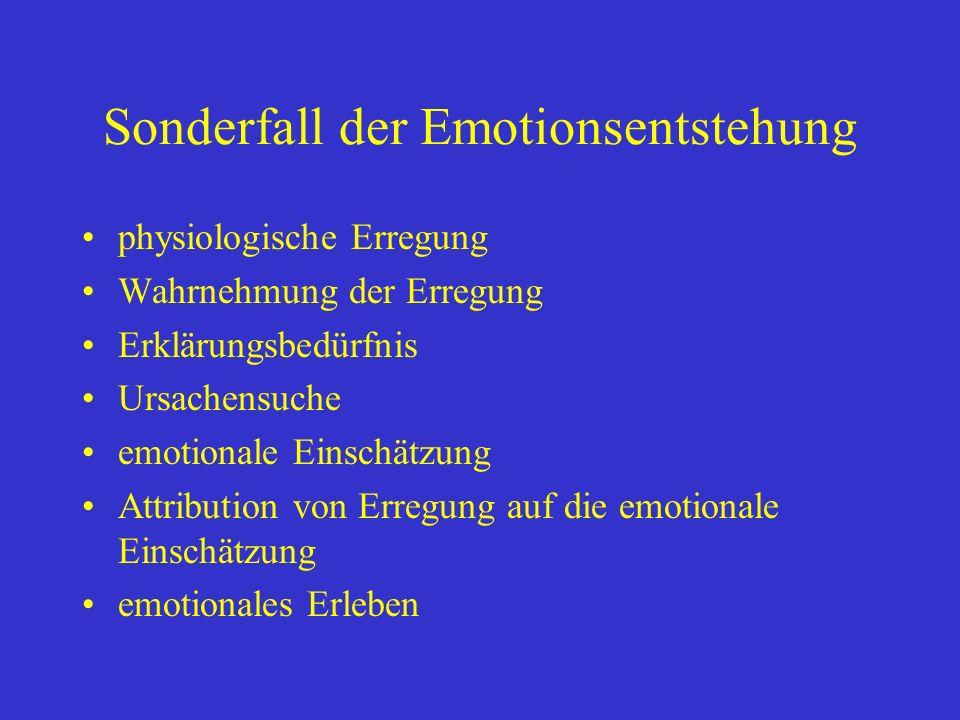 Sonderfall der Emotionsentstehung