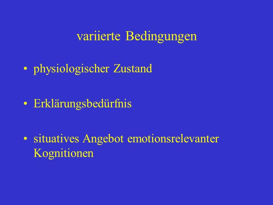 variierte Bedingungen