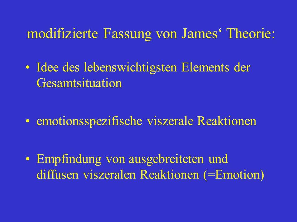modifizierte Fassung von James' Theorie:
